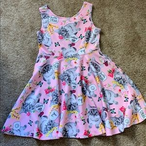 Happy kitten spring dress